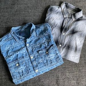 LUCKY BRAND & OLD NAVY Button Up Tee Bundle S/M